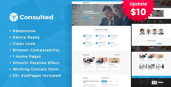 Consulted - Business Consulting and Professional Services HTML Template