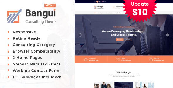 Bangui - Business Consulting Services HTML Template