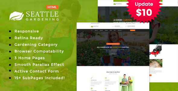 Seattle Gardning - Gardening and Landscaping HTML Template by template_path