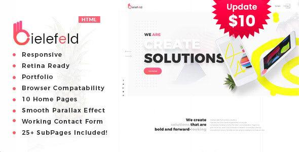 Bielefeld - Multipurpose Creative Portfolio Template