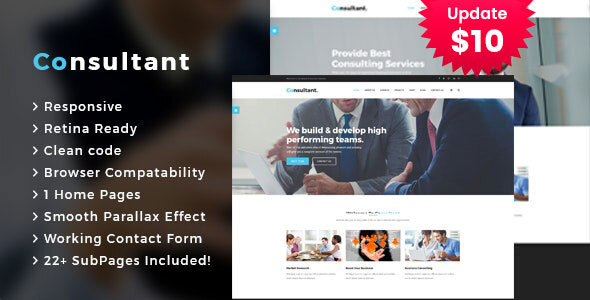 Consultant - Business Consulting Services HTML Template