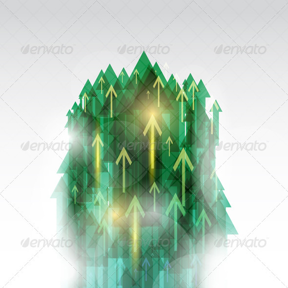 Abstract arrow background - Backgrounds Decorative
