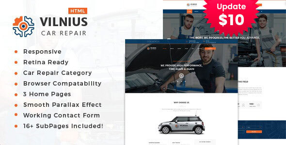 Vilnius || Auto Mechanic & Car Repair Template by template_path