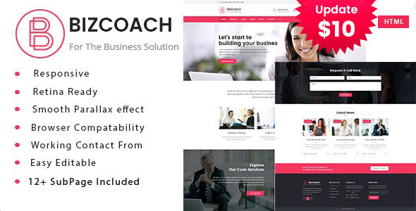 Bizcoach - Business Consulting and Professional Services HTML Template