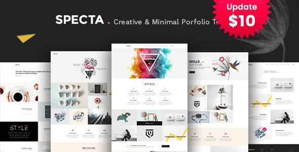 Specta - A Colorful and Modern Multipurpose  Portfolio Template