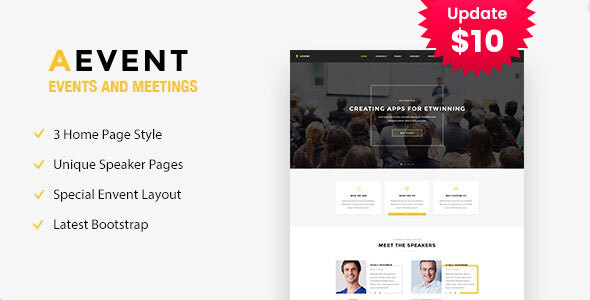 Aevent - Conference & Event HTML Template