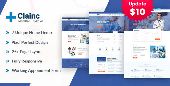 Clainc – Health And Medical HTML Template by template_path