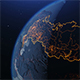 Russia Map From Space at Night with City Lights Showing Human Activity Russia - VideoHive Item for Sale
