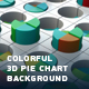 Colorful 3D Pie Chart Background - VideoHive Item for Sale
