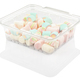 marshmallow candy in a plastic container isolated on a white background with clipping path - PhotoDune Item for Sale