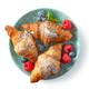 freshly baked croissants, top view - PhotoDune Item for Sale