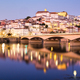 View Of Coimbra In Portugal And Mondego River At Night - PhotoDune Item for Sale