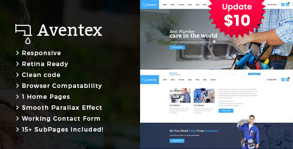 Aventex - Plumber and Construction HTML Template by TonaTheme