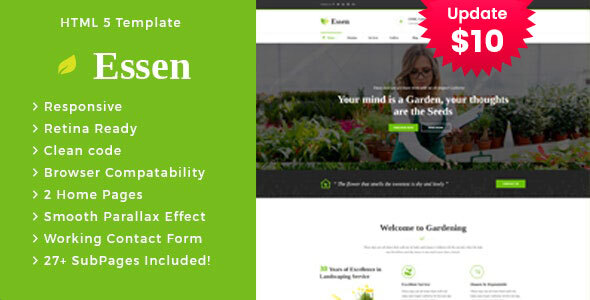 Top Essen - Gardening and Landscaping HTML Template