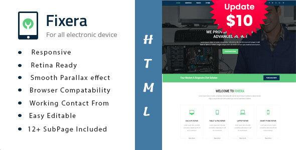 Fixera - Electronics and Phone Repair HTML Template by TonaTheme