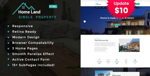 Homeland | Real Estate Property HTML5 Template by TonaTheme