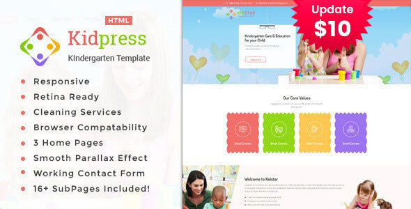 Kidpress- Kindergarten & School HTML Template