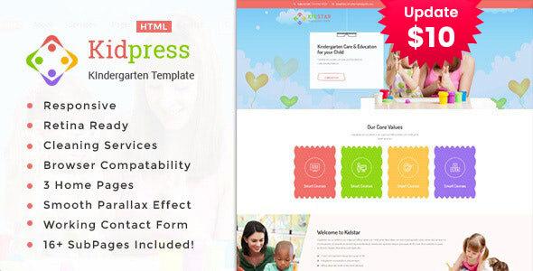 Kidpress- Kindergarten & School HTML Template by TonaTheme