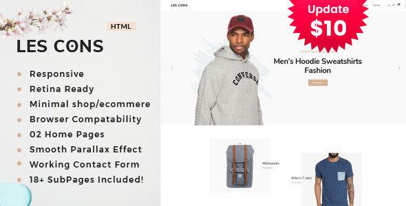 Lescons - Minimal eCommerce Template by TonaTheme