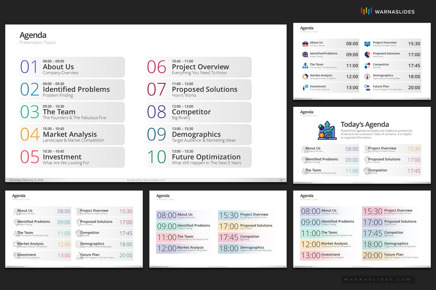 Agenda Meeting Powerpoint Template By Warnaslides Graphicriver