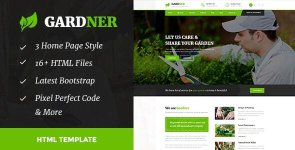 Gardener - Gardening and Landscaping HTML Template by TonaTheme