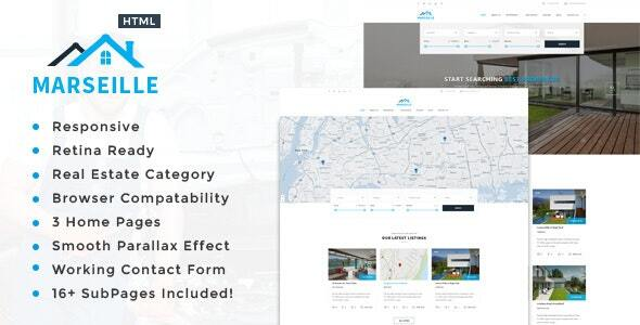 Marseille - Responsive HTML5 Template for Property Developers by TonaTheme