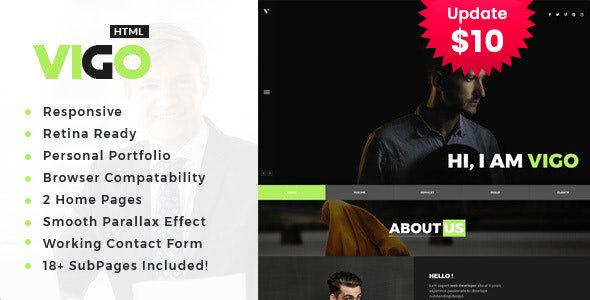 Vigo - Personal Portfolio HTML Template