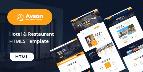 Avson - Hotel Booking HTML5 Template
