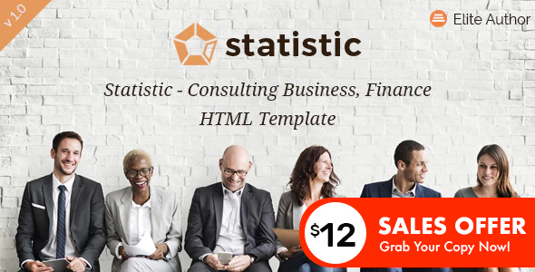 Statistic - Consulting Business and Finance HTML5 Template