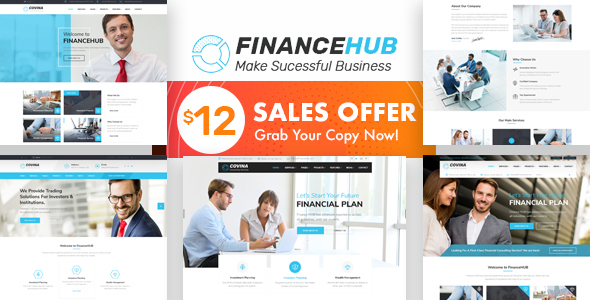 Finance HUB - Business Consulting and Professional Services HTML Template