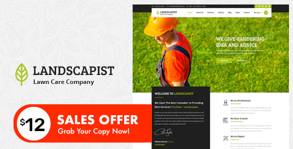 Landscapist - Lawn & Landscaping HTML Template