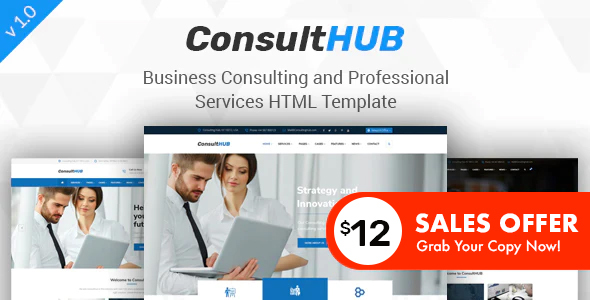 Consult HUB - Business Consulting and Professional Services HTML Template