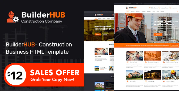 Super Builder HUB- Construction Business HTML Template