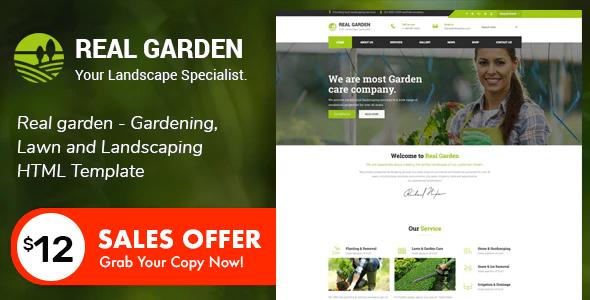 Real Garden - Gardening & Landscaping HTML Template