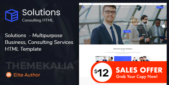 Marvelous Solutions - Multipurpose Business Consulting Services HTML Template