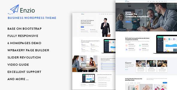 Enzio - Responsive Business WordPress Theme by gavias