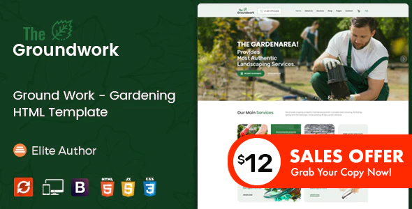 Ground Work - Gardening and Landscaping HTML Template