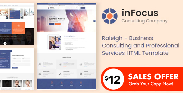 Incredible inFocus - Business Consulting and Professional Services HTML Template
