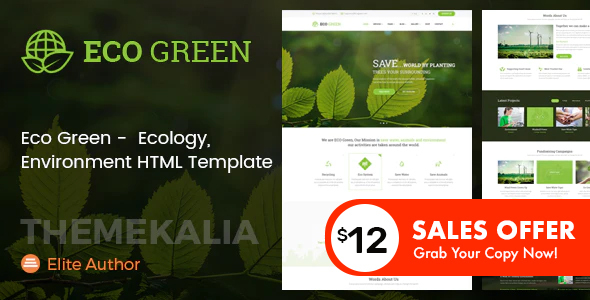 Eco Green - HTML Template for Environment and Renewable Energy Company