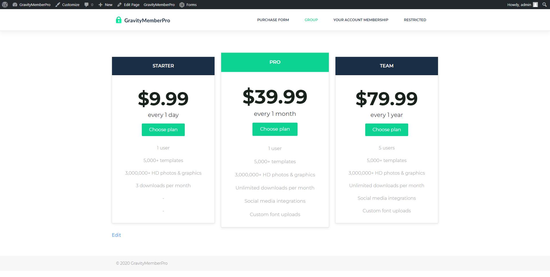 GravityMemberPro - Create membership site with Gravity Forms | Membership Plugin