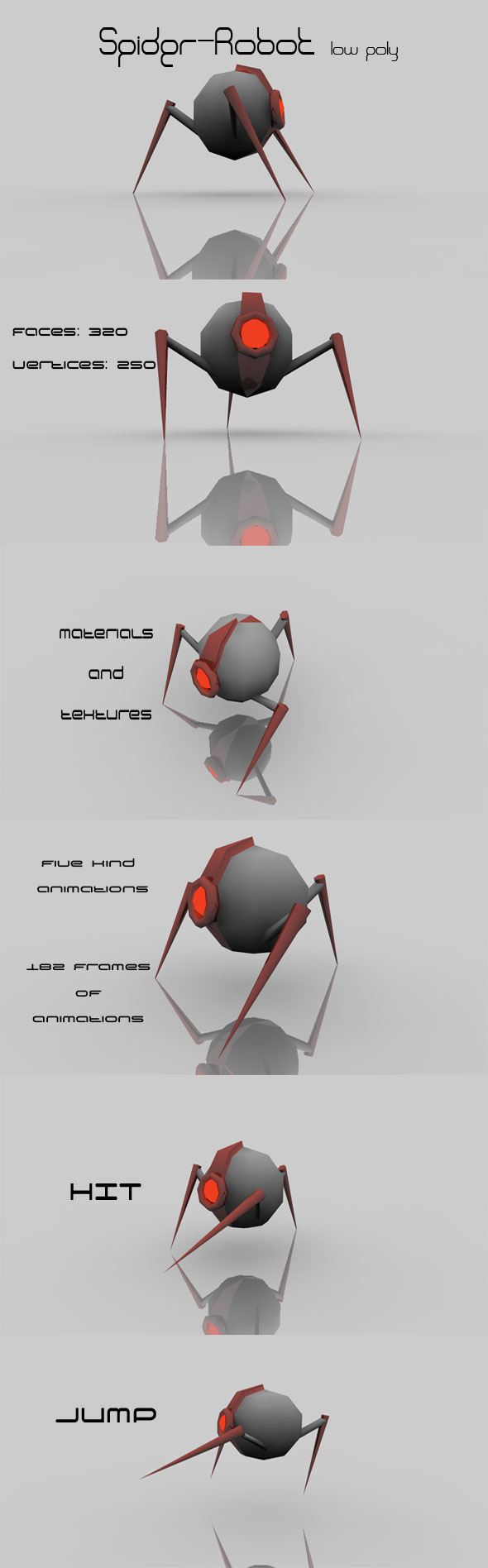Spider - Robot low poly - 3DOcean Item for Sale