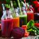 Freshly squeezed vegetable juice in bottles - PhotoDune Item for Sale