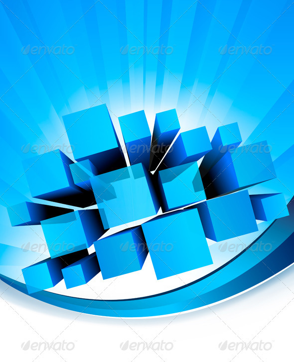 Abstract business background with blue graph - Backgrounds Business