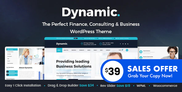 Dynamic - Finance and Consulting Business WordPress Theme