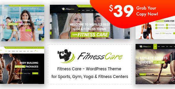Fitness Care - Gym WordPress Theme