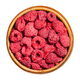 Dried whole raspberries in a wooden bowl - PhotoDune Item for Sale