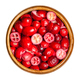 Sliced and dried cranberries in a wooden bowl - PhotoDune Item for Sale