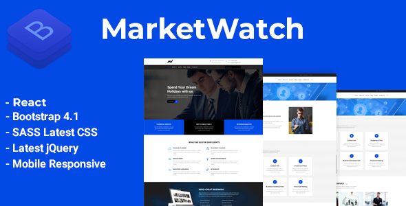 Exceptional MarketWatch - Corporate Finance React Template