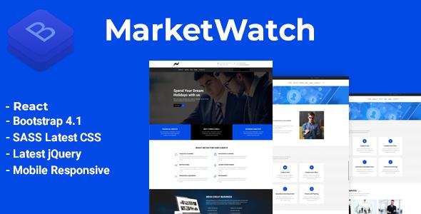 MarketWatch - Corporate Finance React Template