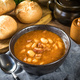 Beans with tomato sauce, bacon and sausage. - PhotoDune Item for Sale